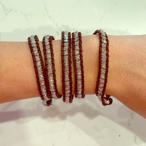Victoria Emerson bracelet brown and iridescent